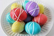 WIELKANOC - jajka pisanki / jaka malowane, jajka oklejane, kraszanki, pisanki