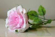 KWIATY Z BIBUŁY / kwiaty z bibuły sztuczne, krepina,