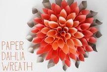 KWIATY z papieru / kwiaty z papieru