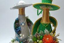 BUTELKI, SŁOJE, WAZONY / szkło,dekoracje na szkle. wazony,