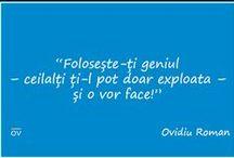 Cugetări Ovidiu Roman / Citate și Cugetări Ovidiu Roman