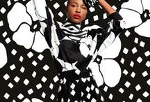 Pattern as Camouflauge / A collection of fashion images where pattern acts as camouflage.