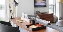 Cantinhos de Trabalho / Home Offices / Workspaces / Ideias simples e descoladas para você se inspirar e criar o seu cantinho de trabalho em casa.
