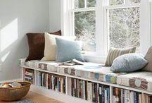 Organizando livros /  Organizing Books / Ideias pra você organizar seus livros... Estantes, prateleiras e cantinhos pra lá de aprazíveis pra quem gosta de ler!