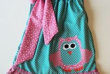 Inspiration & Tutorials for Pillow Dresses / Make the cutest little dresses out of pillow cases. A board of inspirational ideas and instructions to follow.
