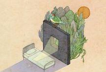 La vie expliquée aux enfants / Illustrations for small and big children. / by Alexandrine Farine