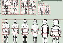 Model 2D: Hoe teken je...? / Schema's voor het tekenen van het menselijk lichaam