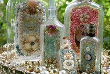 Glazen flesjes en potjes / Glazen flesjes en potjes