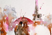 Watercolor paintings!