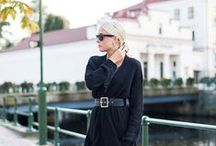 Ellen Claesson / blogger,American mix France style,black+white+gary+navy