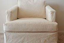 Sue's Club Chair Slipcover / I gave this 1970's Henredon club chair a new look with a custom slipcover in 10 oz. washed natural canvas.