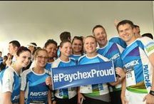 #PaychexProud at the #JPMCC / 400 of our Rochester-area employees braved a bit of rain (and a lot of humidity) for the area's 'largest office party of the year.' This year marked the 20th anniversary of Paychex participation in the JP Morgan Corporate Challenge, where more than 10,000 runners and walkers completed the 3.5-mile course on the RIT campus.