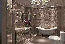 Bathrooms + Powder Rooms / All of my tile and glamour dreams come true.