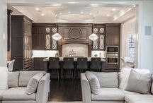 Open Concept Homes / Open concept homes with views from kitchen, to living room, to dining room.