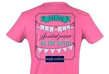 """Simply Southern Tees / Modern casual """"preppy"""" style for kids and adults.  $19.95 each. Updated June 4, 2016:  Sizes available, New styles added / by Ann's Fine Gifts, Houston, TX"""