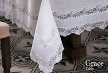 """Table Linens / The """"tailor-made"""" Luxury on the Dea products is a must, tablecloths in all sizes, rectangular, square, round allow you to make table setting unique to whoever chooses.  Consider these luxury Italian linen table clothes for your home and family or as you welcome guests to a special event."""