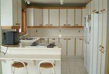 Avant & Après / Design de cuisines et rénovations d'espaces.   Before and after kitchen makeovers