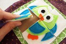 * Quiet Book - DIY * / Inspiracje do stworzenia książeczki sensorycznej dla malucha.
