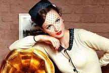 Vintage Inspired Fashion / Modern girls wearing retro and vintage fashion. A glamorous moodboard for stylish women.