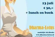 Flyers / De flyers gemaakt voor de activiteiten van dharma-lotus.nl in Breda.