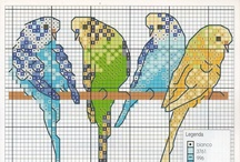 Cross Stitching Birds / **If any of the patterns/graphs belong to you or are known to be infringing on copyrights, PLEASE let me know and I will happily delete them. It is not my intention to cause harm to anyone. / by Allyson Abu-Hajar