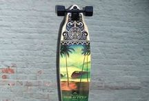 "A Pintail Longboard Selection / A pintail longboard is shaped to prevent the wheel from coming in contact with the board (called ""wheelbite"") while still providing enough footspace. Most Pintails have top mounted trucks. http://longboardsusa.com/pintail-longboard/"