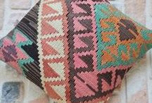 Kilim Pillows / Kilim pillows - unique vintage turkish kilim pillows for some bohemian touch for your home by Sheepsroad
