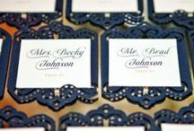 Stylish escort Cards / by Sara Pavlatou