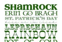 ~IRISH  ♣ PRINTABLES~ / FREE IRISH PRINTABLES for ST. PATRICK'S DAY / by Sheila Anne