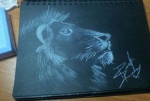 BlackPaper... / drawing on black paper..