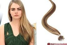 HAIR_FASHION / HairExtensionSale(http://www.hairextensionsale.com/) supplies various types of hair extensions which allow people to change their hairstyles by adding length, volume and color to natural hair in a minute! / by Glamulet Jewellry