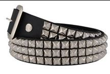 BELTS / leather, vegan and metal belts / by Rivithead