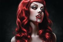 "☽Vampyr☾ / ""On her milk white neck the devil's mark... She's got a date at midnight with nosferatu."""
