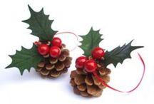 Pinecones  /  Pinhas / Decorating... Decorando...