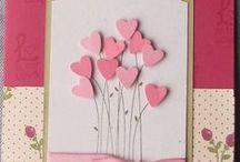 Scrap - Heart Cards  /  Colagem - Cartões de Coração / Beautiful models to inspire. Belos modelos para inspirar.