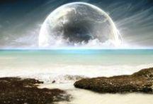 Art: Space, Moon etc