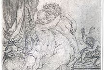 "Heinrich ALDEGREVER / Heinrich Aldegrever or Aldegraf (1502–1555 or 1561) was a German painter and engraver. He was one of the ""Little Masters"", the group of German artists making small old master prints in the generation after Dürer."