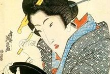 "Keisai EISEN / Keisai Eisen (1790 – 1848) was a Japanese ukiyo-e artist who specialised in bijinga (pictures of beautiful women). His best works, including his ōkubi-e (""large head pictures""), are considered to be masterpieces of the ""decadent"" Bunsei Era (1818–1830)."