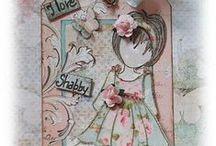 Prima Dolls  /  Bonecas Prima / Paper art. Arte em papel.