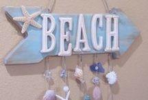 Nautical and Beach Decor  /  Decoração Náutica e de Praia / Decor ideas with sea treasures. Ideias de decoração com tesouros do mar.