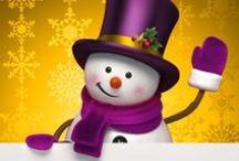 Christmas - Snowman / Decoration, designs, reuse