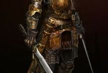 MEN IN ARMS & ARMORS / GLADIATORS-SOLDIERS-WARRIORS-SAMURAI-GANGS & WARRING CLANS