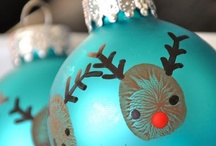 Ornaments by kids / by Melissa Miller