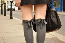 Stockings go Street Style / It's such a relief to find that stockings aren't restricted to the bedroom, they work just as well (and look even more stylish & chic) on the streets too!