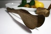 Wood dishes for kitchen and grill