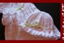Ubranka do chrztu dla dziewczynek / Szydełkowe, ręcznie robione ubranka do chrztu dla dziewczynek i chłopców.
