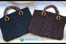 Szydełkowe torby - Crochet bags / Szydełkowe torby i torebki.