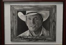 Country Music Artwork / These are drawings I have completed of various country music artists. Many of these drawings are signed by who I have depicted.