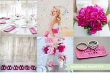 Fuschia / Mix of pink inspired mood boards