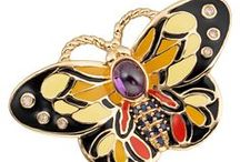 CIRO Butterfly collection / Butterfly inspired high quality jewelry. Featuring colored enamel, yellow gold, faceted and cabochon-shaped - Cirolit's which create this playful collection.